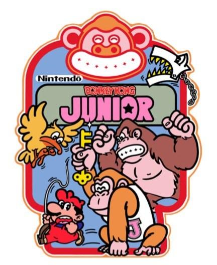 Mario, Donkey Kong and Donkey Kong Jr. in Donkey Kong Jr.