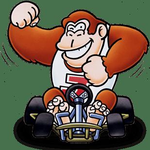 Donkey Kong Jr. in Super Mario Kart