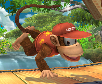 """Donkey Kong's pal has finally joined the battle!"" (Image: Nintendo)"