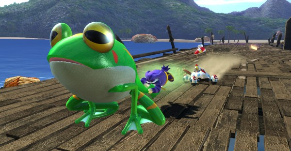 Big the Cat and Froggy in Sonic & SEGA All-Stars Racing