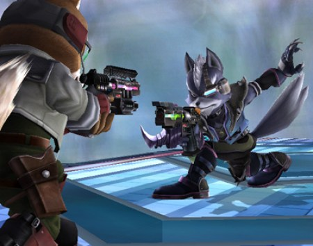Fox vs. Wolf in Super Smash Bros. Brawl