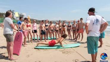 group surf lesson at source in mui ne