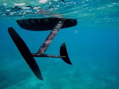 north foil board underwater