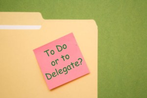 Folder with Do it or delegate it note