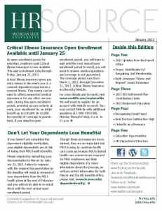 January 2013 Newsletter Cover