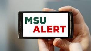 MSU Alert on phone