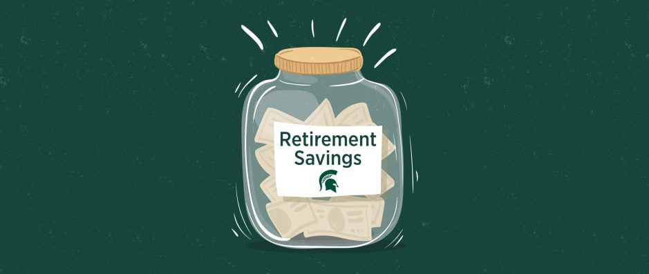 jar of money with retirement savings written on the front