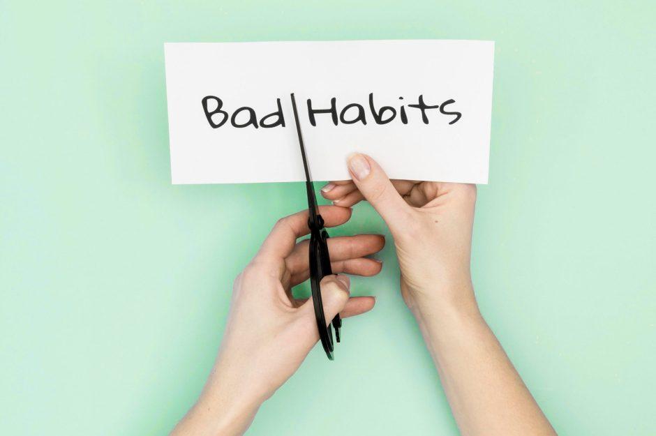 bad habits graphic