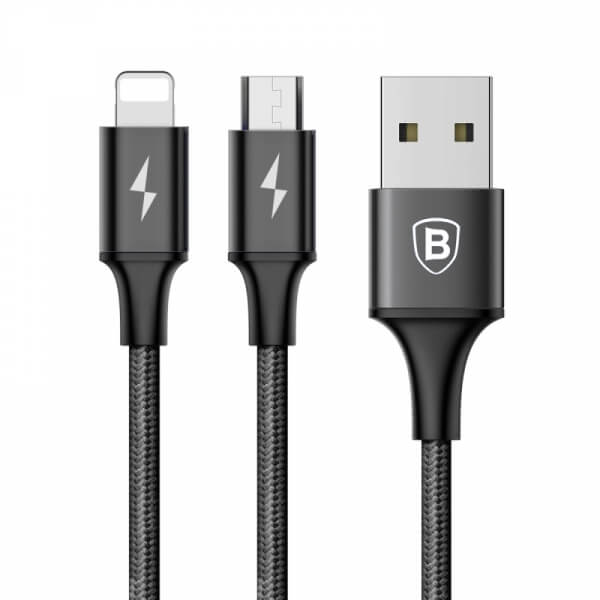 Baseus Rapid Series 3A 2in1 8 Pin+Micro USB Cable SOP