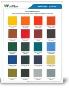 Top score color card also epic standard plastisol inks polyone wilflex nazdar rh sourceonezdar