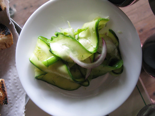 Shaved Zucchini and Fennel Salad with Lemon Vinaigrette