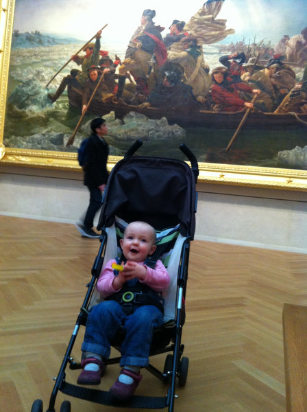 Samantha in front of Washington Crossing the Delaware