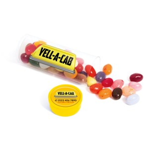 Promotional Clear Midi Tube filled with Jelly Beans