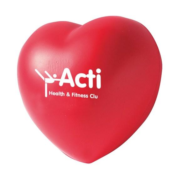 Promotional Stress Toy shaped like a Heart
