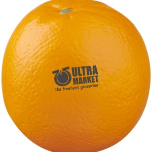Stress Squeeze Toy Orange Shaped Branded with Logo