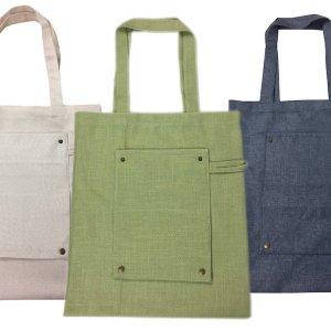 Promotional Hemp Fold-up Bags Custom Printed