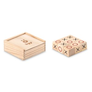 Promotional Products - Wooden Tic Tac Toe Game Set
