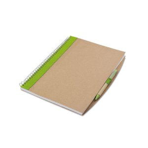 Sustainable Notebook and Pen Set Branded with Logo