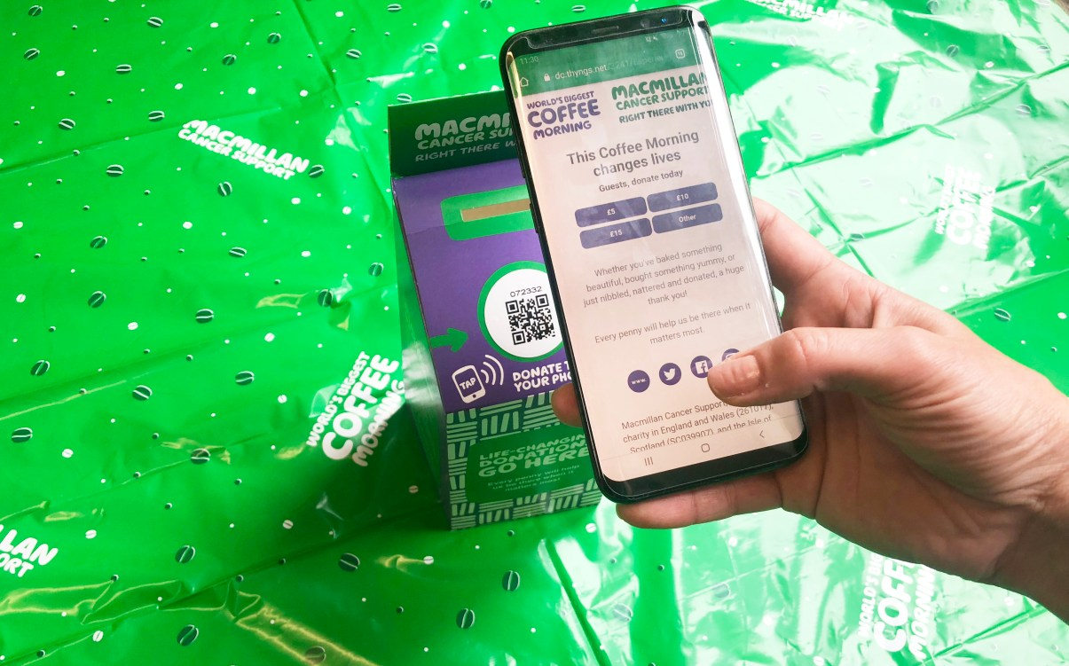 Working with Macmillan to bring cashless
