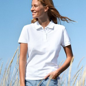 Ladies Classic Polo T-Shirt made from 100% Organic Fairtrade Cotton