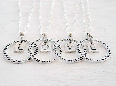 Love Letters Monogram Pendants