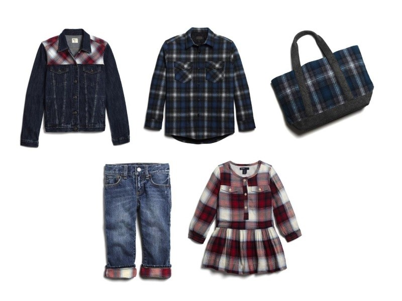 Selected images from the Fall 2016 Gap x Pendleton collection for the entire family (PRNewsFoto/Gap)