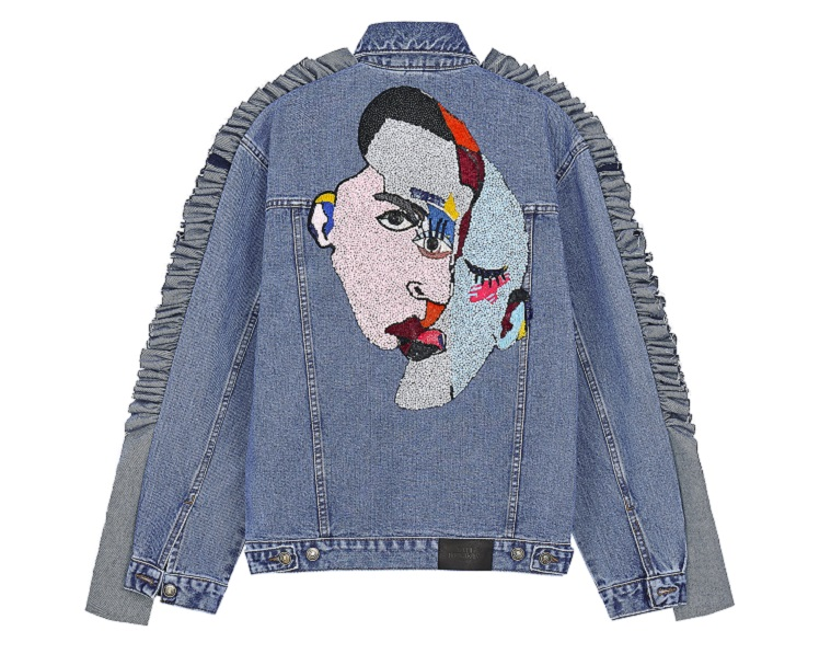 0df4dd4e ... resulting in a range of jean jackets with Cubism-inspired embroidered  artwork. Dobryakova said she chose to focus on pop icons due to her  admiration and ...