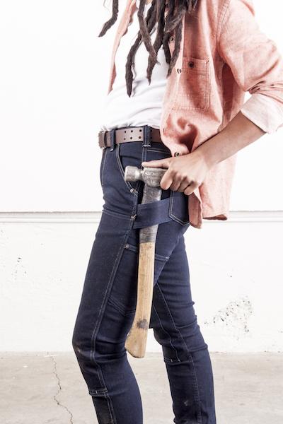 women in work wear jeans
