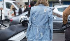 Parisians Update the Classic Jean Jacket for Fashion Week Style