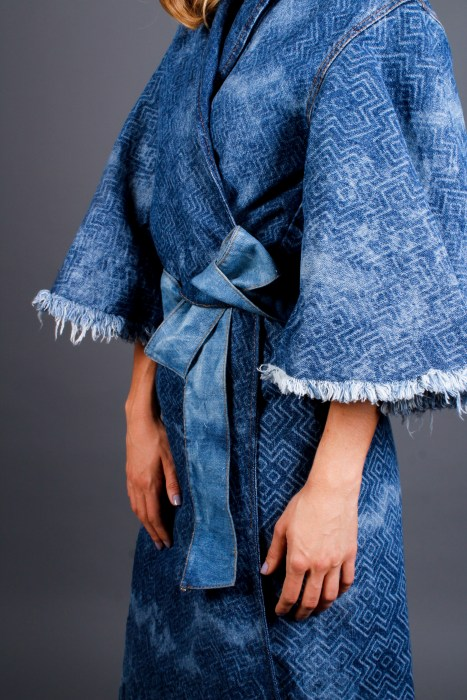 denim robe