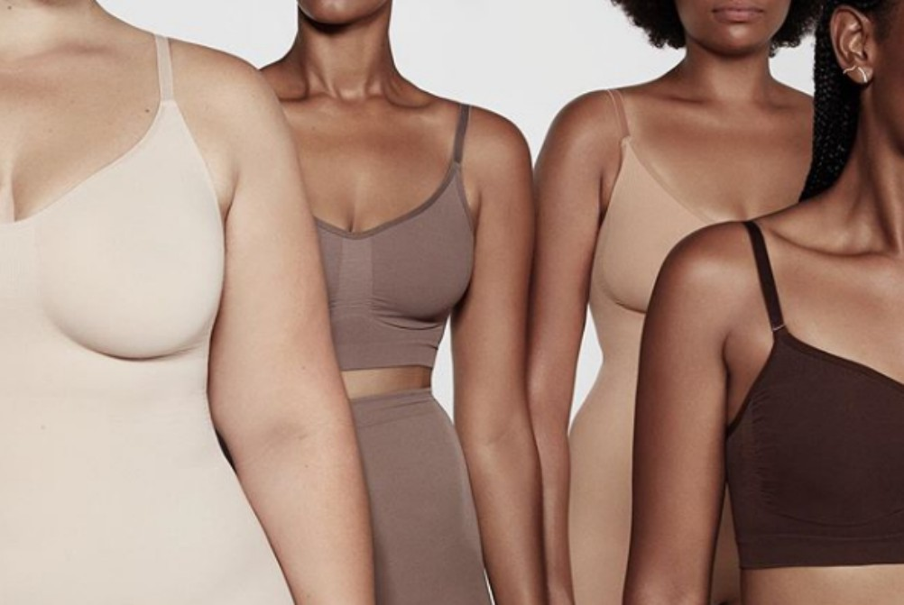 Kim Kardashian West's Skims line sold out within minutes on Tuesday.
