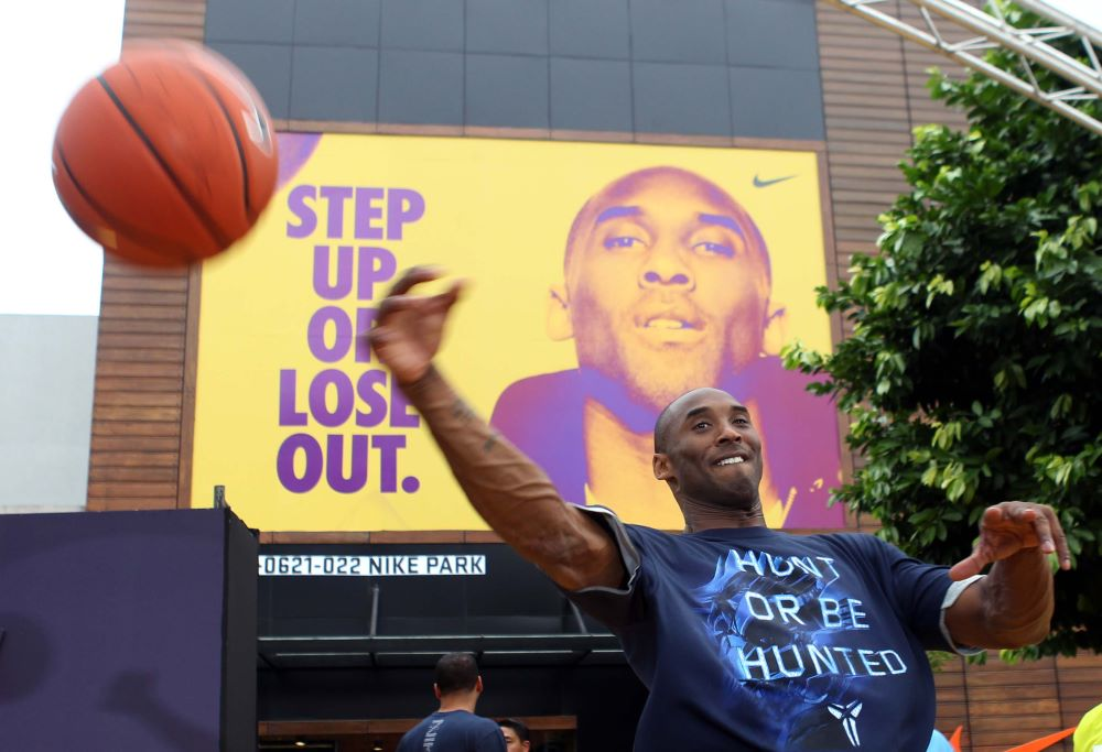 As a Nike ambassador, Kobe Bryant traveled the world evangelizing the brand and fostering his own basketball legacy.