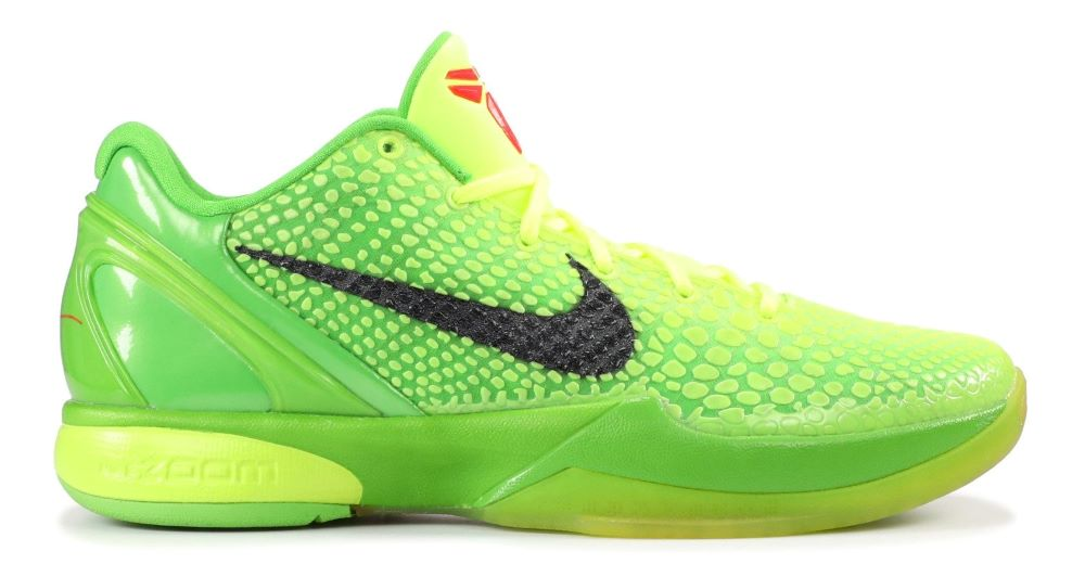 Demand for the Kobe Grinch sneaker has skyrocketed.