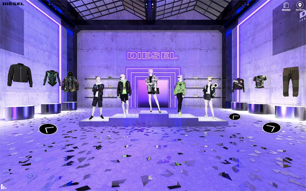 Diesel and parent company OTB are putting their own spin on digital showrooms and the result is right on brand.