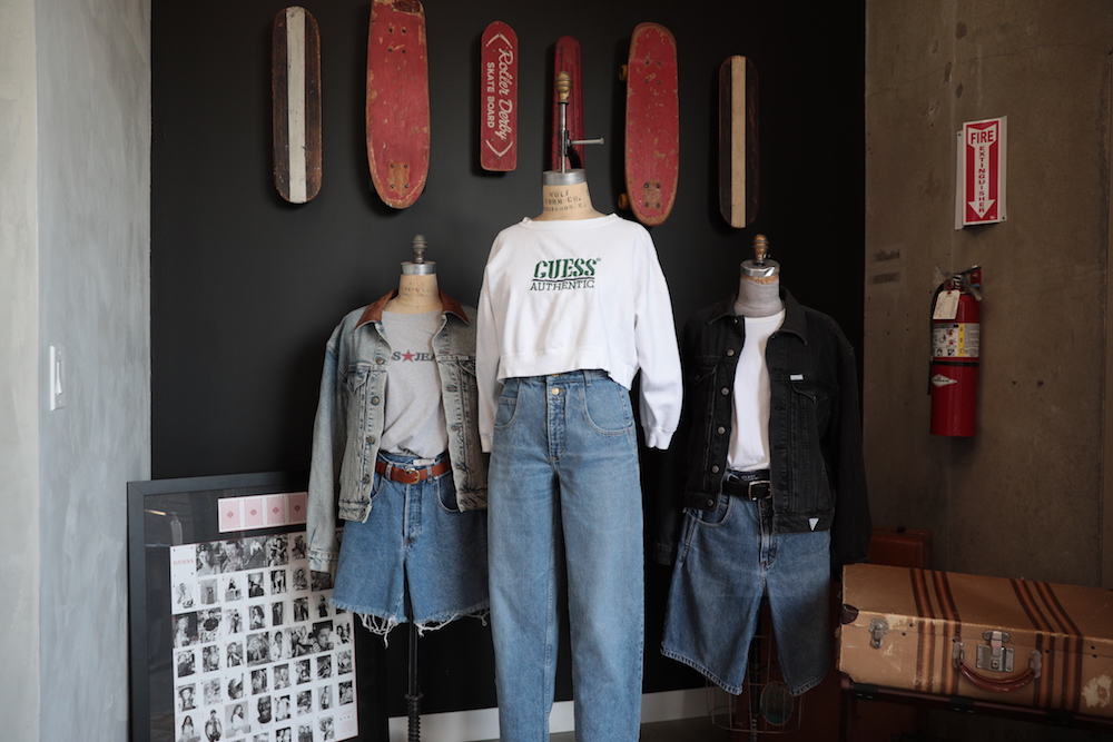 Guess steps into resale with Guess Vintage, an online program of exclusive hand-picked certified vintage Guess items from the '80s and '90s.