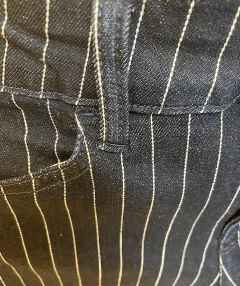 The winter stripe jean is a new twist on the refined railroad stripe jean, and is manufactured to provide a soft, fluid hand feel using Tencel and modal sustainable fibers.