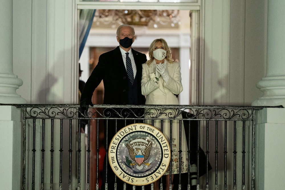 Dr. Jill Biden's Inauguration Day ensemble, which included a matching coat.