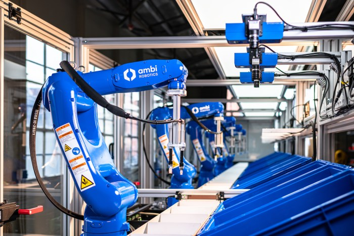 AmbiKit is designed to automate product bundling for faster delivery to increase order accuracy and reduce operating costs. The new kitting system includes a five-robot picking line, currently deployed to augment the pick and place tasks associated with one of today's fastest growing e-commerce opportunities: online subscription boxes.