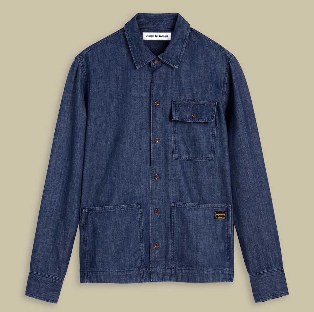 Kings of Indigo teamed with Freshlab on a line of denim shirts that require fewer home laundries and have a lesser environmental impact.