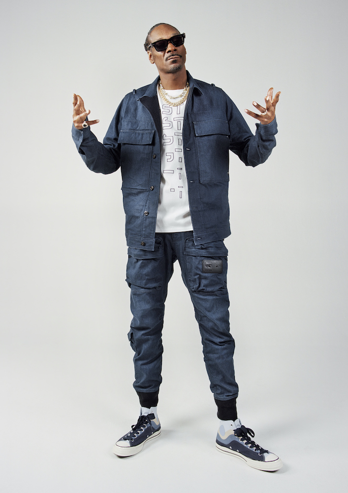 """G-Star Raw tapped Snoop Dogg to front its Hardcore Denim campaign set to a custom-made version of his single """"Say it Witcha Booty."""""""