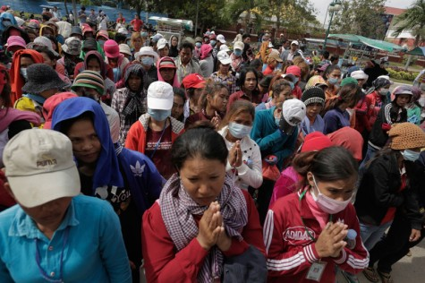 Cambodia garment factory workers strike