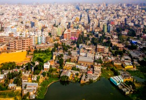 Area of Dhaka, the Capital of Bangladesh