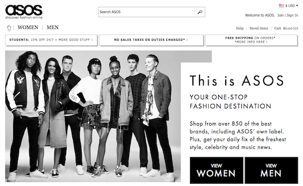Asos_website screenshot