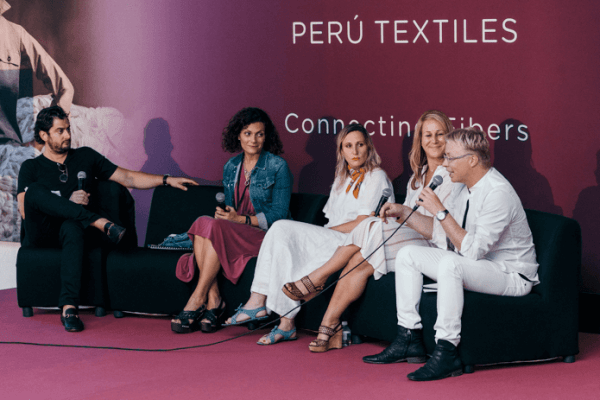 Peruvian panel discussion: Edward Hertzman, Tricia Carey, Dana Davis, Liz Hershfield and Martin Diment