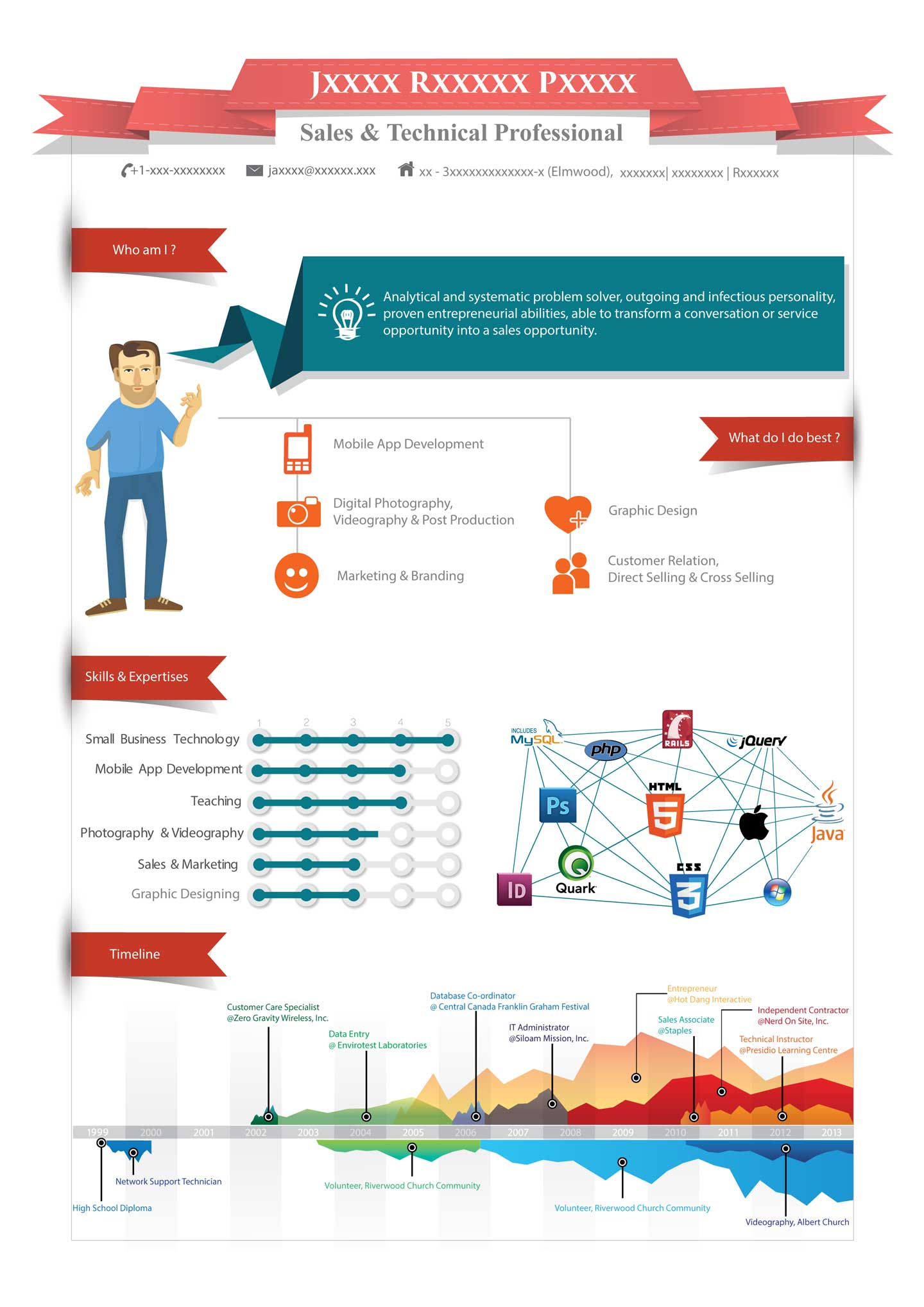 Make Your Resume Better With Infographics TIP 2