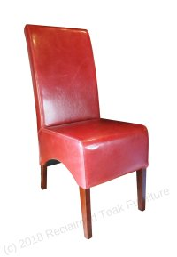 Leather Chair Red | Reclaimed Teak Furniture