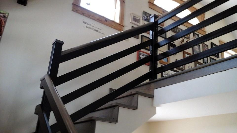 Interior Railings Ma Ri Ornamental Wrought Iron Rails Spiral | Iron Handrails For Stairs Interior | Wall Mounted | Balcony | Dark Brown | Room Divider | Custom