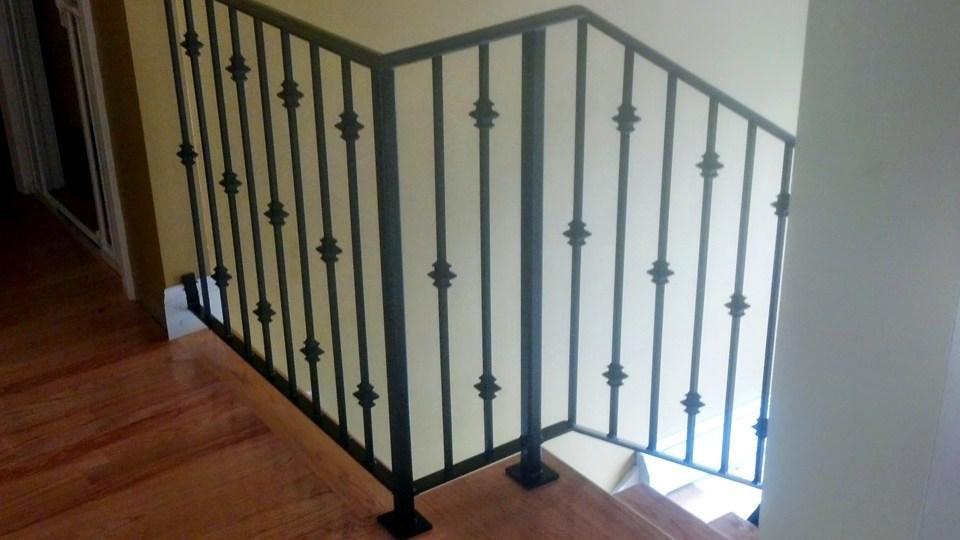 Interior Railings Ma Ri Ornamental Wrought Iron Rails Spiral | Wrought Iron Indoor Railing | Steel Frame Wood Deck | Metal | Glass Indoor | Victorian | Traditional