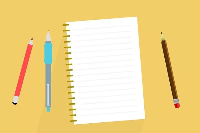 desk, notes, notebook