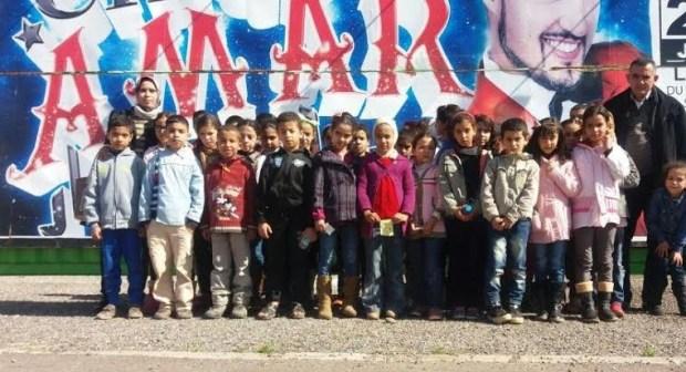 """أكادير : تلاميذ مدرسة الأطلس ايت الموذن في زيارة لسيرك """" عمار"""""""